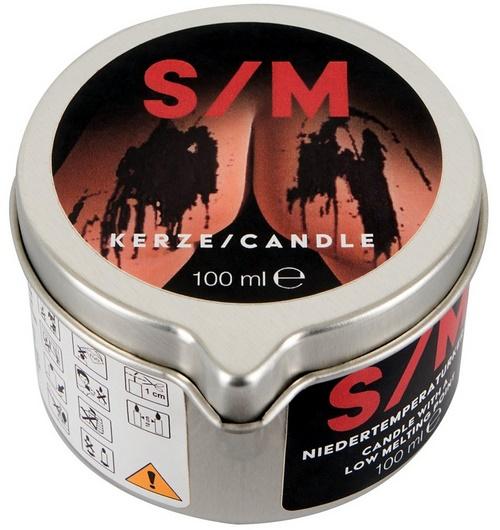 S/M-vahakynttilä, 100 ml, musta